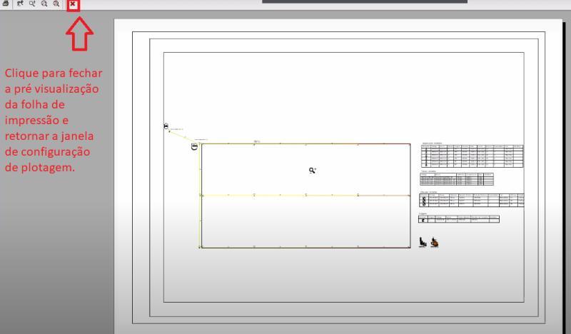 <br>Visualización previa de la grafica para imprimir, utilizando CTB de AuE Software, en AutoCAD